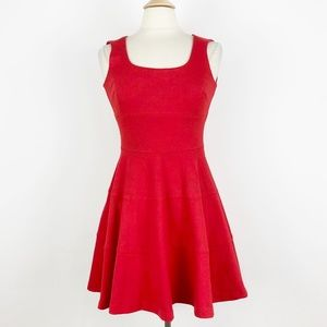 Banana Republic Fit Flare Red Petite 0P XS Dress